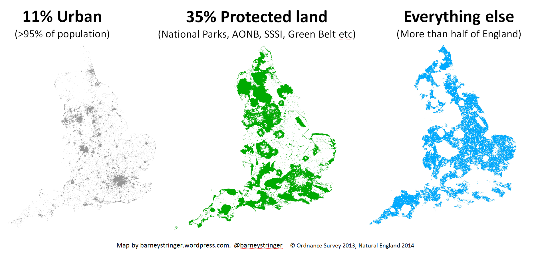National Parks Uk Map.How Much Of England S Countryside Is Protected Barney S Blog