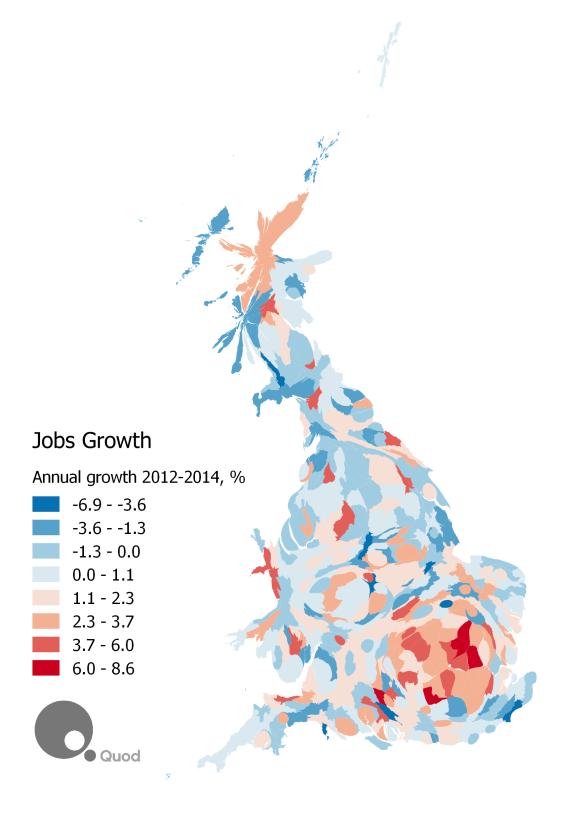 Jobs Growth cartogram