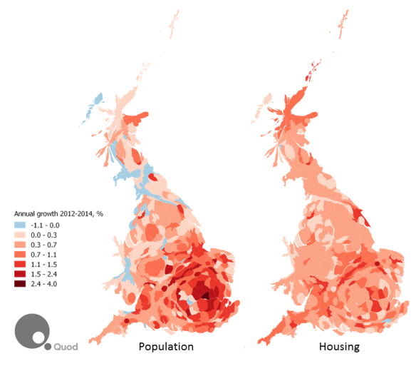 Housing and Population Growth Cartogram